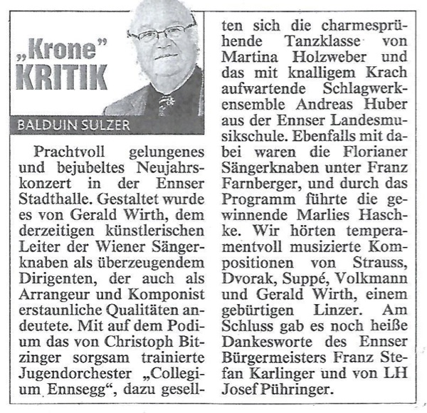 """Neujahrskonzert 2017, """"Krone"""""""