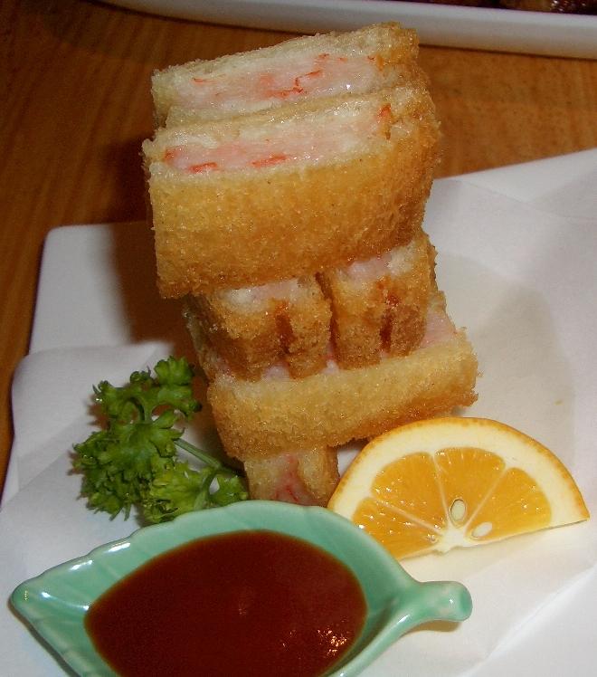 プリプリ海老の食パンはさみ揚げ 680円