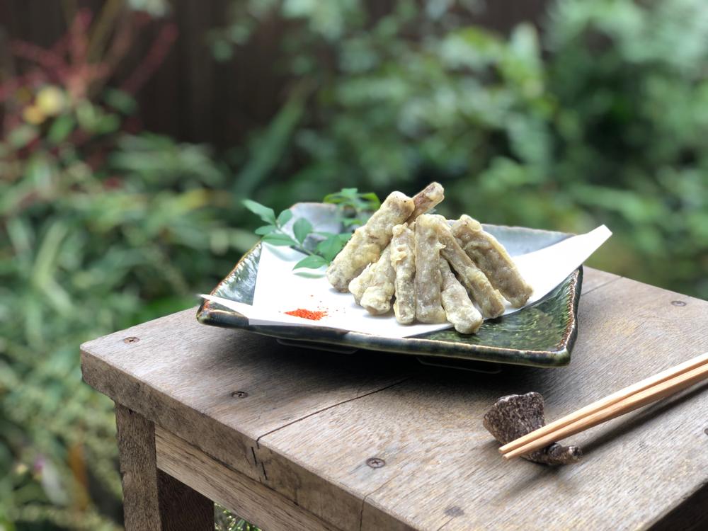 煮ごぼうの天ぷら