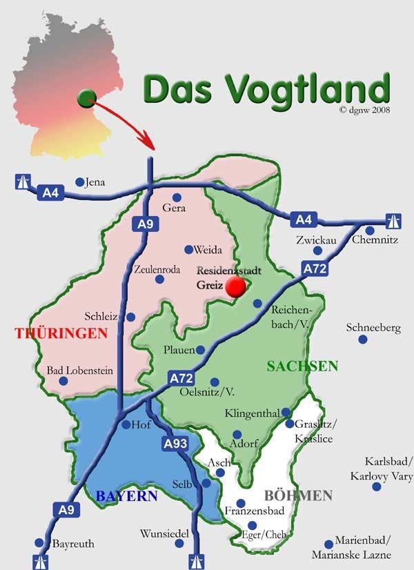 Das historische Vogtland