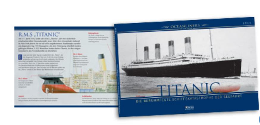 """16 Karten Kollektion """"Ocean Liners"""", Übersetzung aus dem Englischen, 2017-2018 (Éditions Atlas)"""