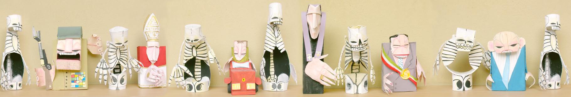 TOTENTANZ danza macabra -2007 - imballaggi di recupero - 18x80x7