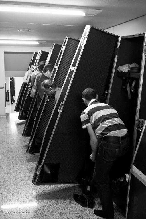 vestiaire des contrabassistes de l'ONF