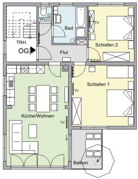 Grundriss OG-Wohnung F****
