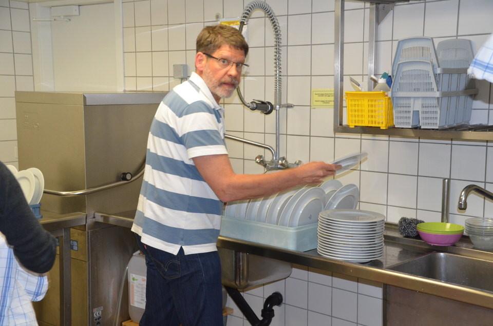 Beim Abwasch