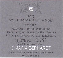 Etikett 2013 St. Laurent Blanc de Noir
