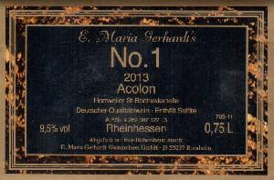 Etikett 2013 Gerhardt's No. 1 Acolon
