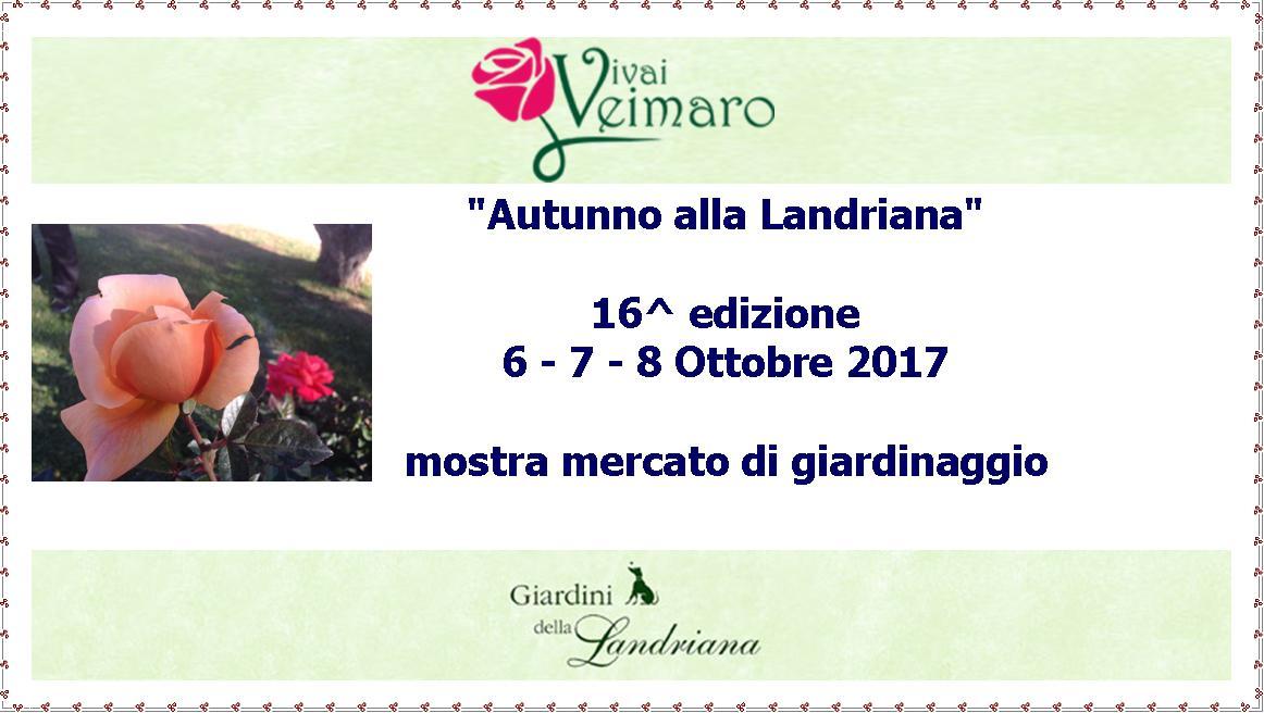 """""""Autunno alla Landriana"""" 16^ edizione 6 - 7 - 8 Ottobre 2017"""
