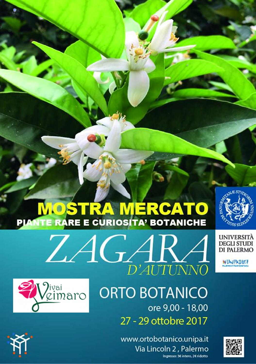 "Vivai Veimaro a Palermo ""Orto Botanico"" 27-29 Ottobre 2017 Con #AcquaBase"