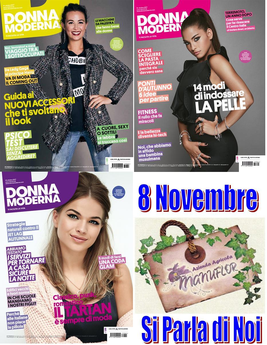"""8 Novembre 2017 - il Settimanale """"Donna Moderna"""" Parlerà di..... 🌳Azienda Agricola #Manuflor🔅"""