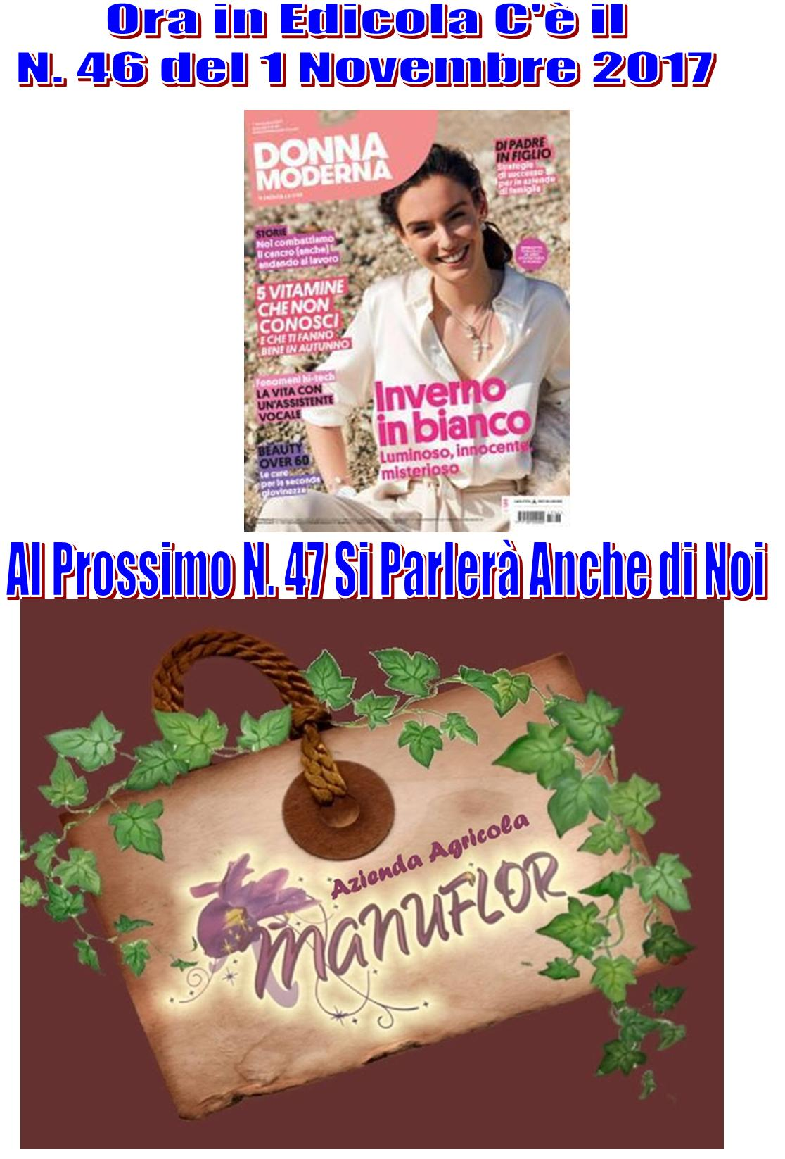 """Azienda Agricola #Manuflor Sarà Protagonista Su: """"Donna Moderna"""" il Settimanale"""