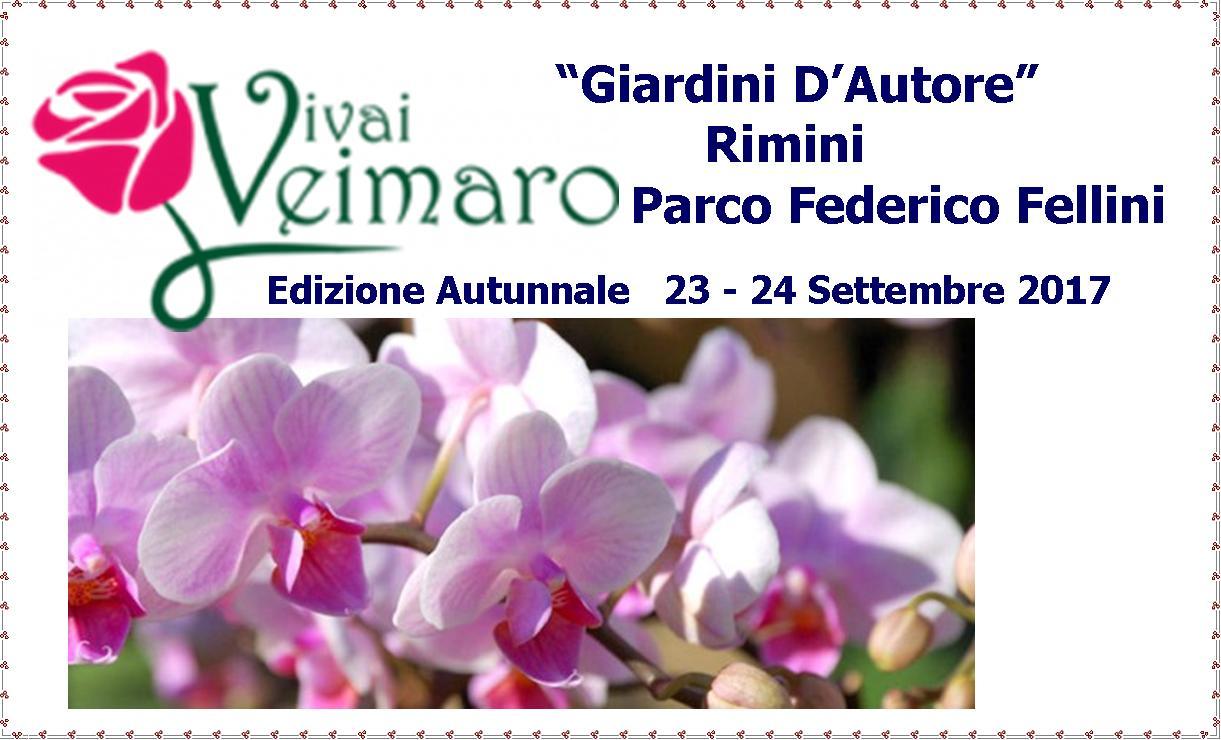 """Edizione Autunnale - """"Giardini D'Autore"""" 23 – 24 Settembre 2017 Vivai Veimaro, Sarà Presente ☘☘"""