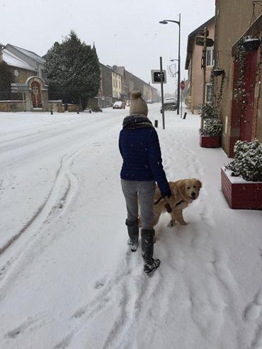 Promenade sous la neige pour Naspa