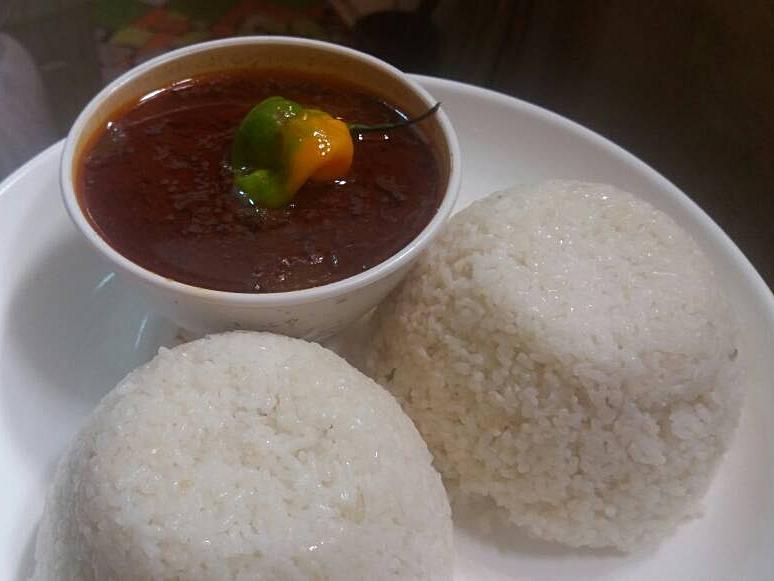Maffe mit Reis