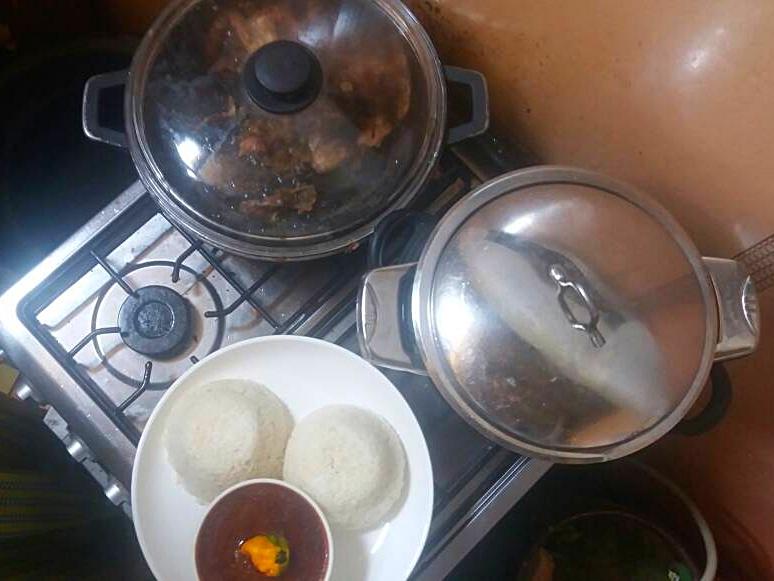 Der Gasherd der Restaurantküche