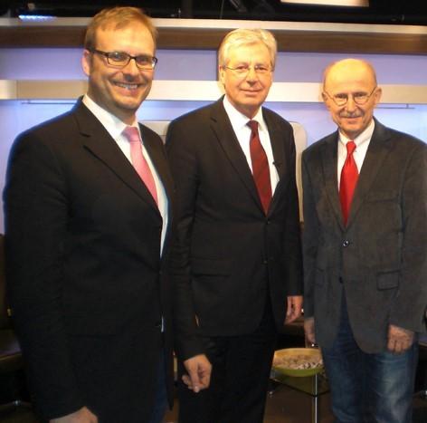 Mit Bürgermeister Jens Böhrnsen und Willi Lemke von Werder Bremen