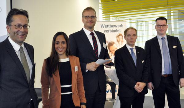 Mit SAT.1-Moderatorin Isabelle Bhuiyan, Dr. Jörg Ritter und Dr. Jörn Grapp von der BTC-AG