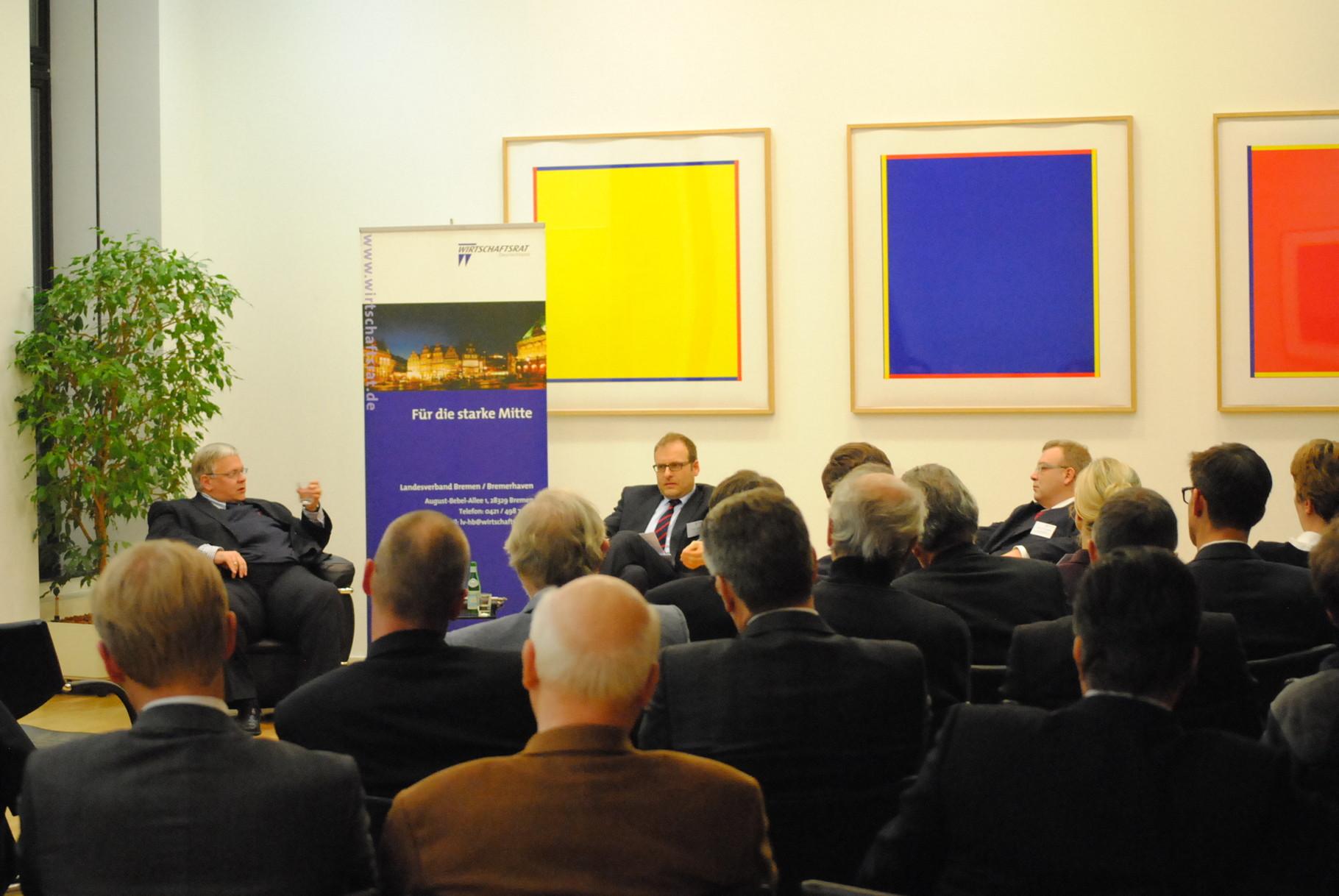 Diskussion beim Wirtschaftsrat zur Großen Koalition 2014