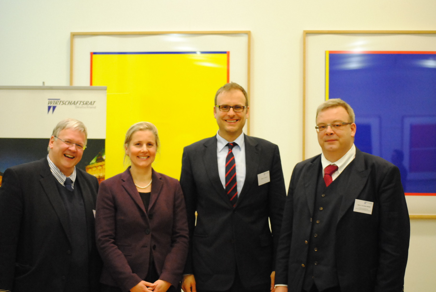 Bausenator a.d. Jens Eckhoff, Wirtschaftsratsvorsitzende Imke Goller Wilberg und SPD-Fraktionschef Björn Tschöpe