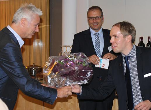 Mit Werder Bremen Mediendirektor Tino Polster und Dr. Jörn Grapp (BTC)