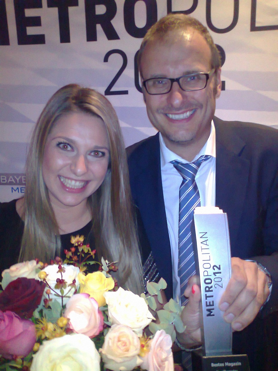 Gewinn des Metropolitan 2012 mit Moderatorenkollegin Julia Gypas