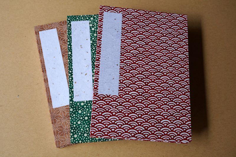 小紋柄の千代紙で作製した御朱印帳