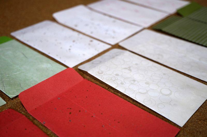 和紙を使ったポチ袋の袋部分の大きさは縦110ミリ、横70ミリです