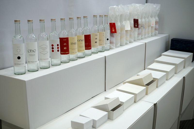 パッケージ×デザイン展ではオリジナルの貼り箱と和紙ラベルなどを出展
