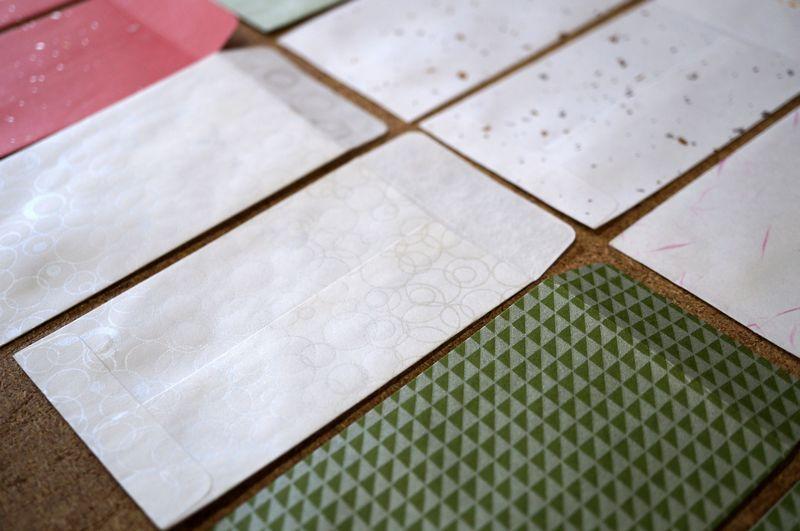 和紙の色や素材感を生かしたり、日本の伝統柄を入れたりしてカスタムメイド可能なポチ袋