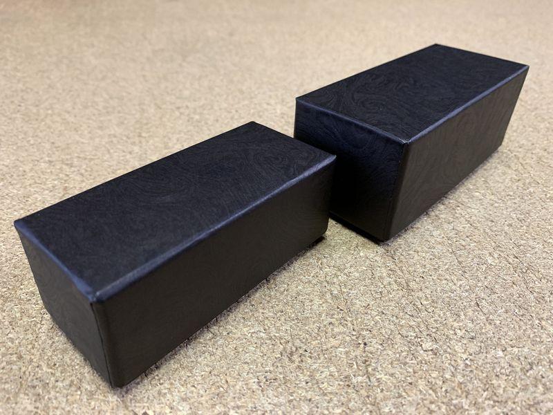 2種類のサイズで貼り箱を作製しました