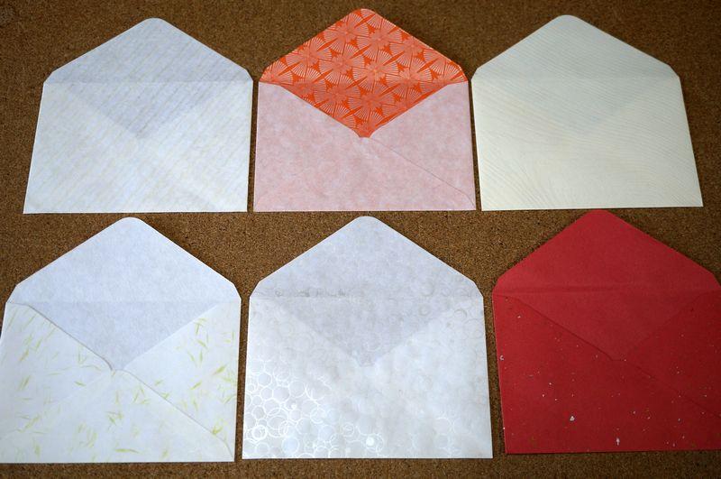 和紙を使ったはがきサイズ封筒の袋部分の大きさは縦110ミリ、横162ミリです