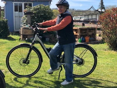 die 1. Fahrt mit einem E Bike