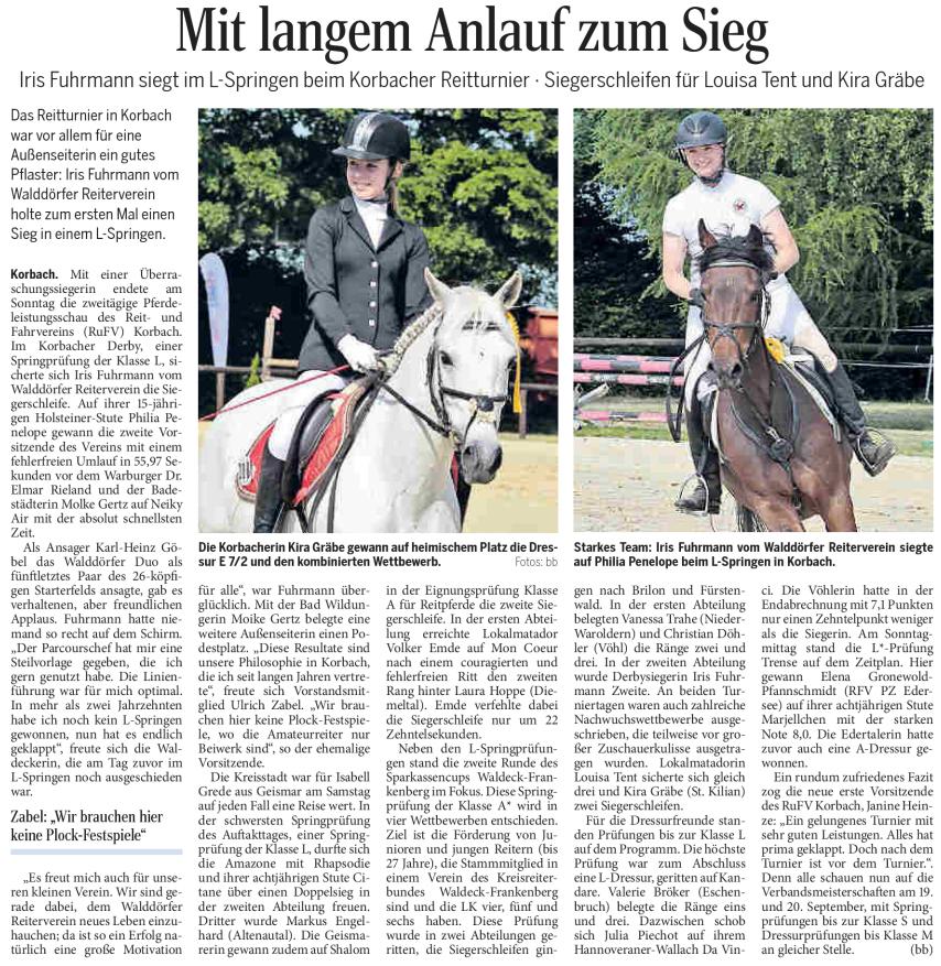 Zeitungsartikel der WLZ vom 16. Juni 2015