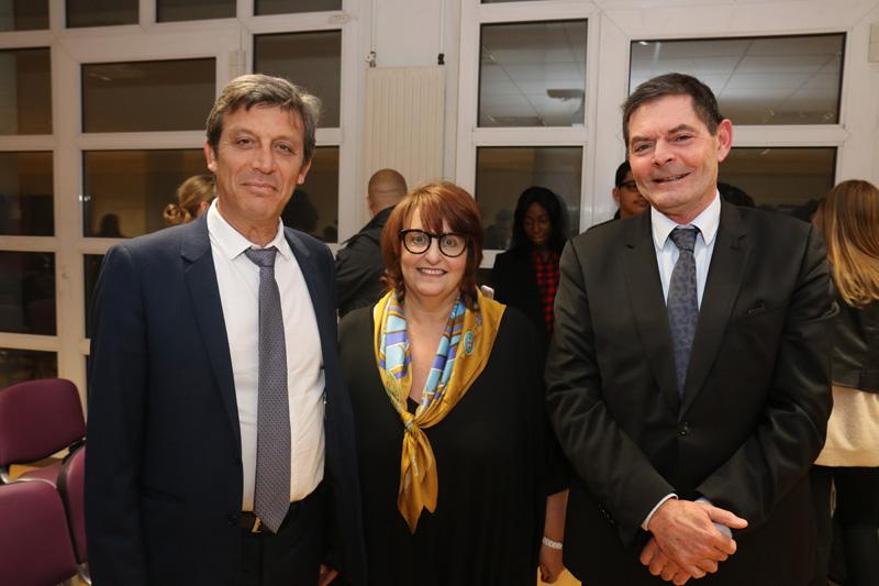 David ASSOULINE, vice-présient Sénat, Annie-Paule DERCZANSKY, Jean-Pierre COIGNARD, Directeur d'Académie