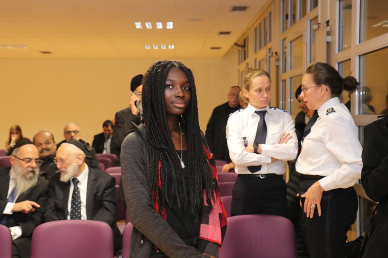 Le Commissaire de police du 19ème, élève collège Brassens et le grand rabbin de Paris