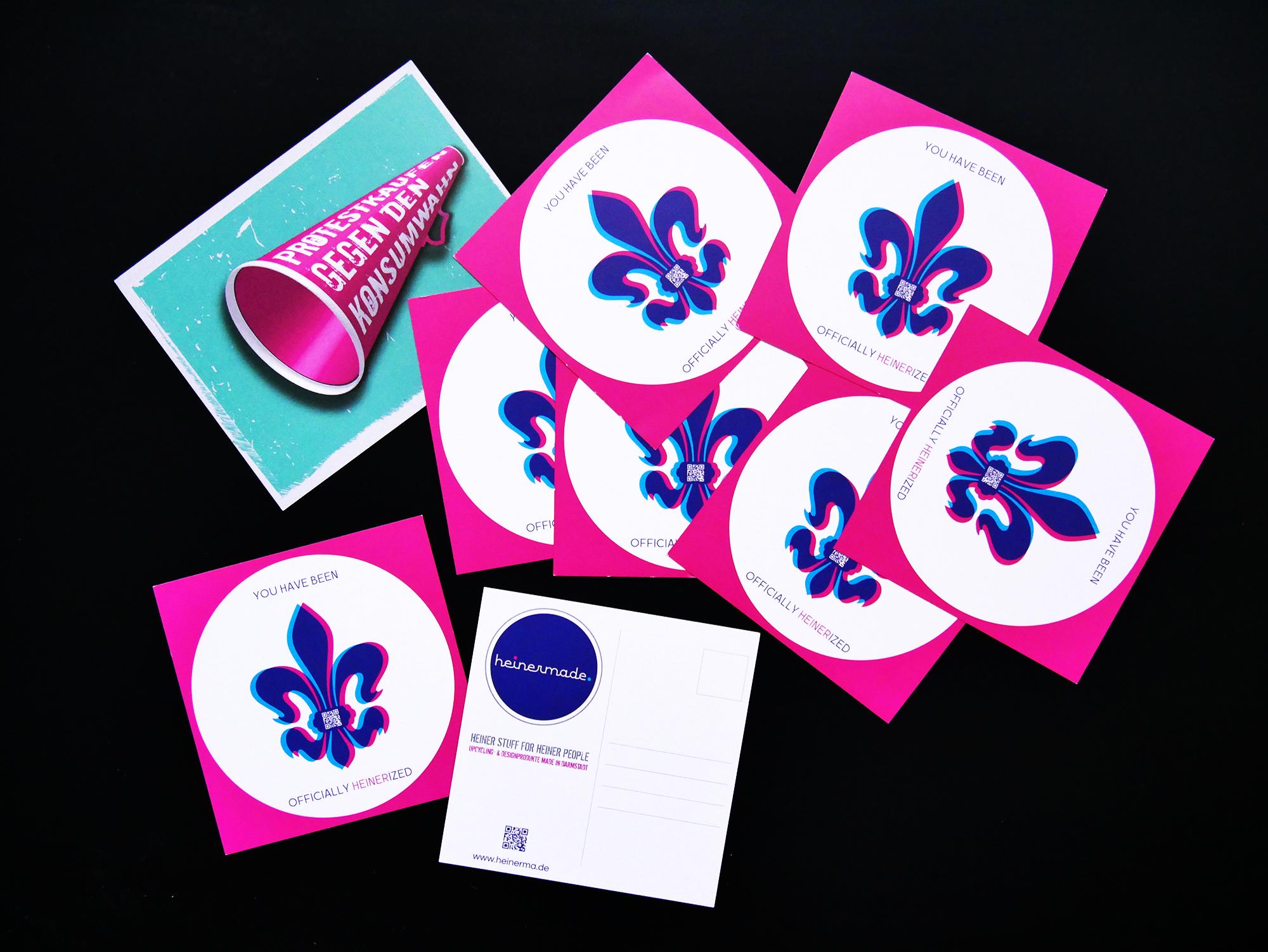 Flyer-Design: als klassische Postkarte oder in quadratischem Format der Flyer, Druck 4/4-farbig matt auf 300g/qm Papier, Flyer kann als Postkarte verwendet werden.