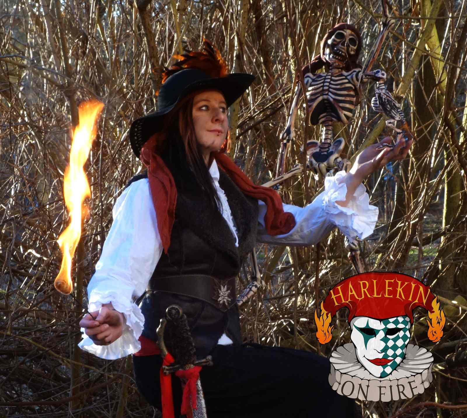 Piraten Feuershow in Kiel für Kinder