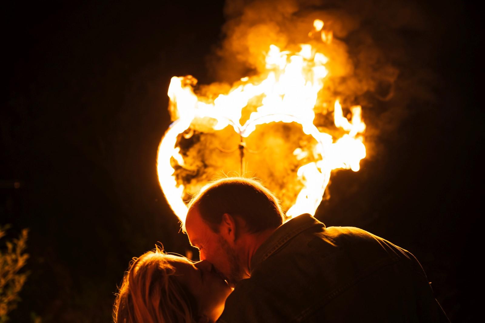 Feuershow zur Hochzeit mit Feuerherz, Foto: Daniel Tetzel
