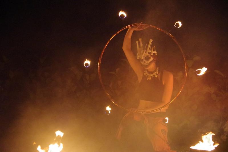 Halloween Feuershow in Kiel