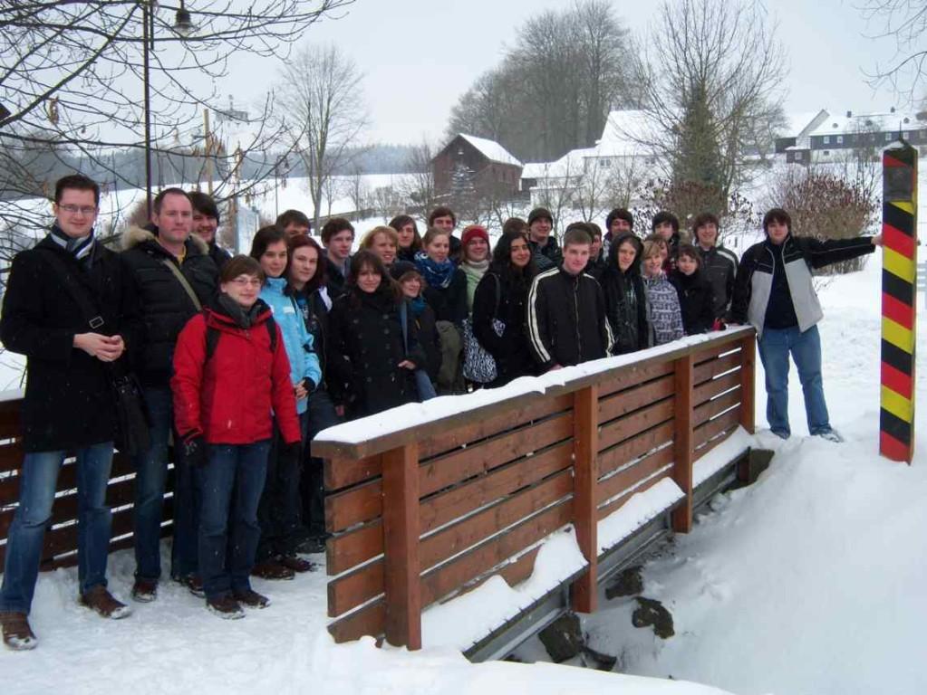 Schüler aus Greiz und Erlangen mit ihren Lehrern