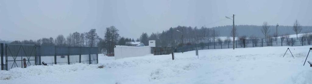 Blick auf die Mauer in Mödlareuth