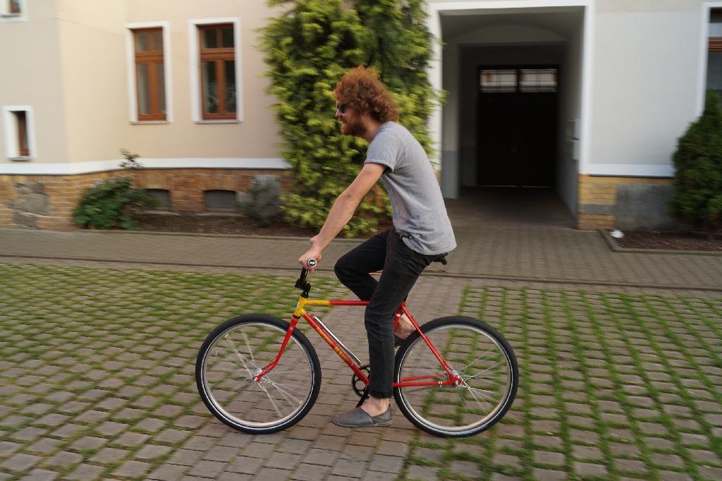 Ich und ein Rad was ich gebaut habe.