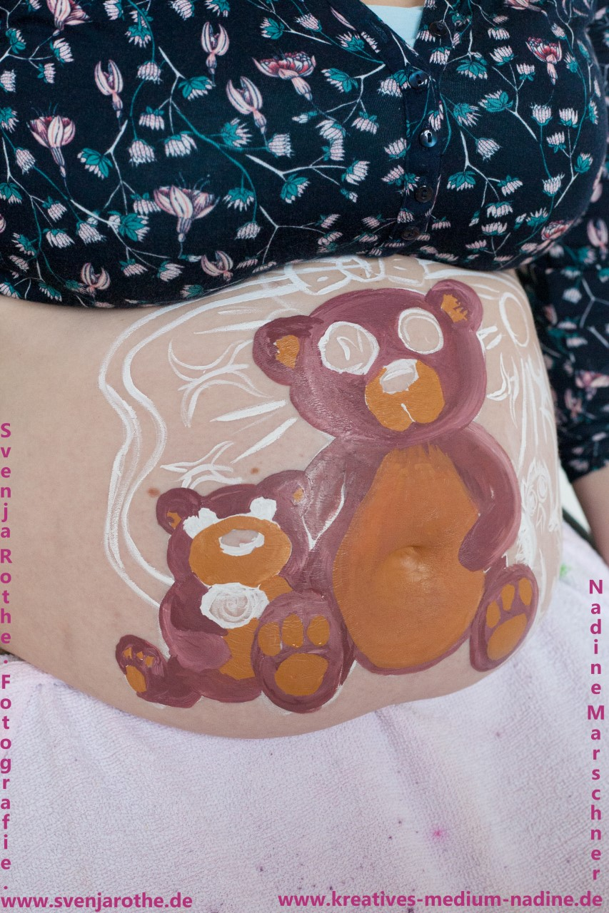 Teddybären und Küken Making-Off