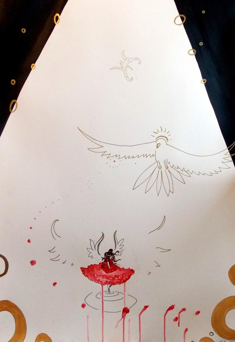 Die Taenzerin Acryl auf Leinwand 100x70cm 2018 für einen Freund