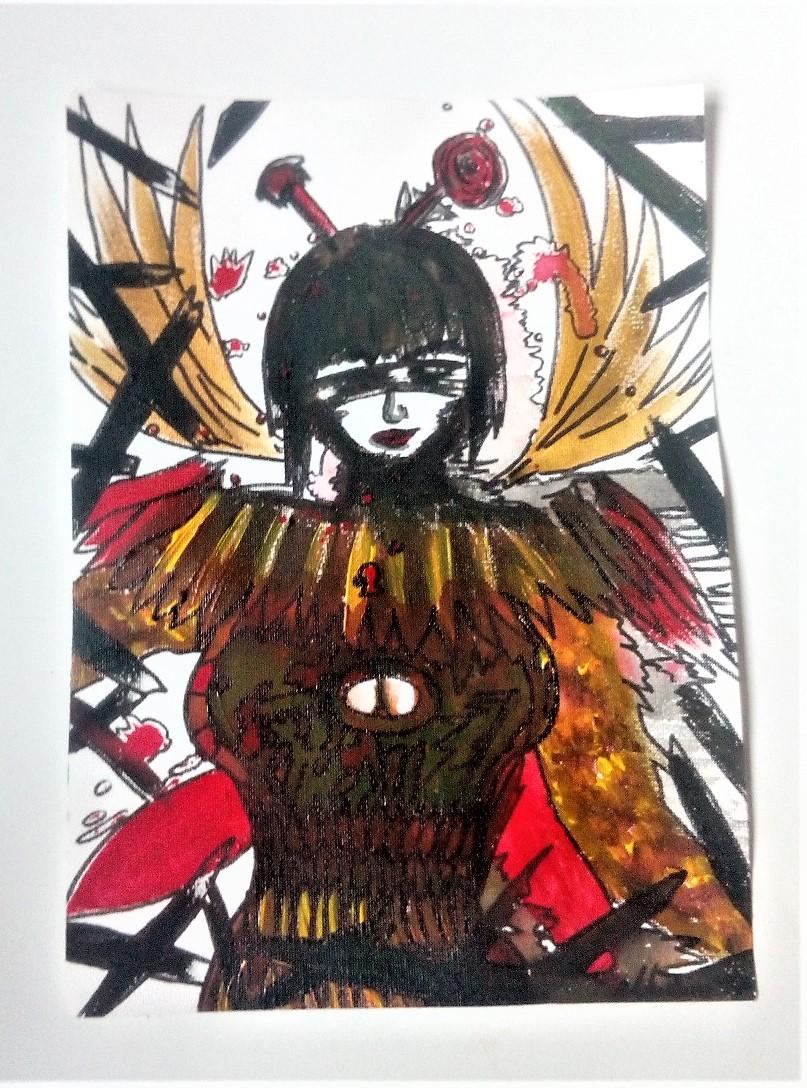 Die namenlose Kriegerin DINA4 nicht gespannte Leinwand 2017