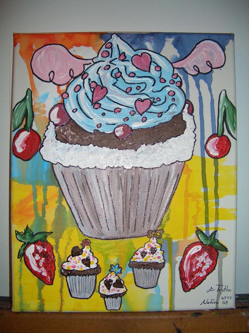 Eat me! Acryl auf Leinwand 30x24cm 2016