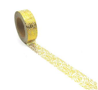 WashiTape mit goldenem Rosenmotiv
