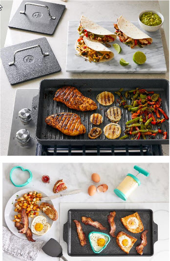 Eine Grillpaltte die auf dem Herd benutzt werden kann. Hole den Grill mit dieser Grillplatte einfach in deine Küche auf deinen Herd.