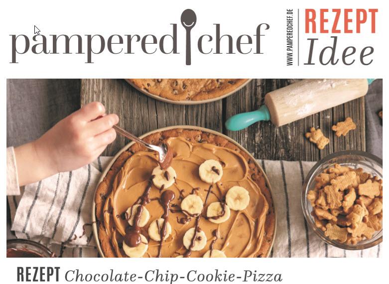 Schokoladen Pizza Cookie nach der Rezeptidee von Pampered Chef