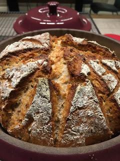 Pampered Chef runder Zaubermeister Brot Rezept. Kokos-Buttermilch Brot von Martina Ziehl mit Pampered Chef